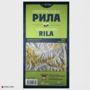 Северозападна Рила - топографска карта