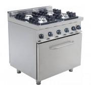 Saro Cuisinière Gaz sur Four Électrique 4 Feux 2x 4,5kW + 7,5kW 800x700x850(h)mm