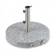 Schirmherr 30RD Sonnenschirmständer 30 kg Balkon Granit grau rund
