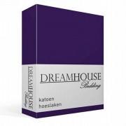 Dreamhouse Bedding katoen hoeslaken - 100% katoen - Lits-jumeaux (160x200 cm) - Paars