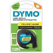 DYMO LetraTag Labeltape 91202 Zwart op Geel 12 mm x 4 m