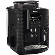Espressor automat Krups Essential EA815070, 1450 W, 15 bari, Râşniţă de cafea metalică, 1.7 L, Display LCD, Duză de abur, Negru