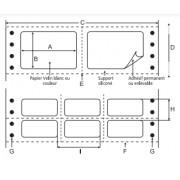 ATB 0161 : 1000 étiq adhésives sur paravents 210x148.5mm