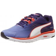 Puma Women's Faas 500 v4 Wn Bleached Denim, Astral Aura and Cayenne Mesh Running Shoes - 4 UK/India (37 EU)