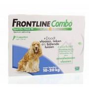 Frontline Combo hond M 10-20kg bestrijding vlo en teek 3st