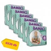 Bambo Nature öko pelenka, Maxi 4, 7-18 kg, HAVI PELENKACSOMAG 6x30 db
