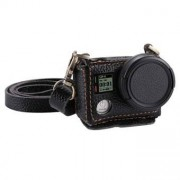 PULUZ® väska i läder med 40,5 mm UV Lens för GoPro HERO4 - Svart