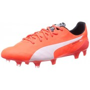 Puma Men's evoSPEED SL FG Lava Blast, White and Total Eclipse Football Boots - 9 UK/India (43 EU)