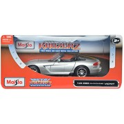 Maisto 2003 Dodge Viper SRT-10 1:24 Die-cast Toy Car Model (Grey)