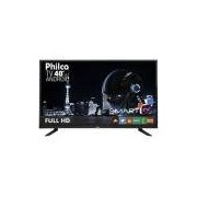 Smart TV LED Full HD 40 Philco PH40E20DSGWA Android Wi-Fi ApToide Som Surround Entradas HDMI e USB