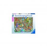 PUZZLE NOAPTE IN LIBRARIE, 1000 PCS - RAVENSBURGER (RVSPA16455)