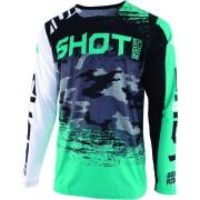 Shot Contact Counter Motocross Jersey White Green M