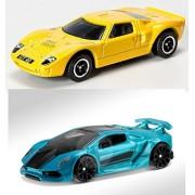 Lamborghini Hot Wheels & Matchbox Ford GT40 2 Car Exotic Set Sesto Elemento #80 2016 & #22 Adventure City Speed...