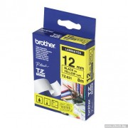 BROTHER TZ Tape, 12mm Black on Yellow, Laminated, 8m lenght, for P-Touch (TZE631)