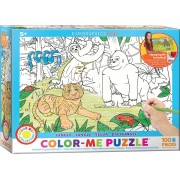 Puzzle de colorat Eurographics - Color Me - Jungle, 100 piese (62207)