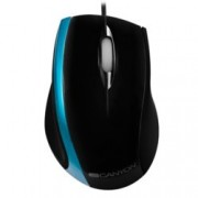 Мишка Canyon CNR-MSO01NBL, оптична (800dpi), USB, черна