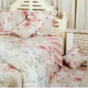 Salomé Prestige Couvre lit Boutis fleur 2 places-230x250-Bleu ciel