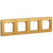 Legrand Рамка Legrand Cariva 773664 Матовое золото (4 поста)