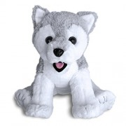 Siberian Husky Dog Puppy By Build A Furry Friend. Cuddly Soft Plush 16 Inch Stuffed Animal. Child Friendly, Handmade Quality. Includes Stuffing, Star Heart & Birth Certificate. No Sewing Or Complicated Assembly Required. Stuff, Zip And Hug In 2 Minutes. V