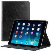 dbramante1928 Copenhagen 2 iPad 9.7 2017/2018 Folio Leren Hoesje - Zwart