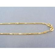 Zlatá retiazka žlté zlato malé očka a obdĺžniček DR49486Z