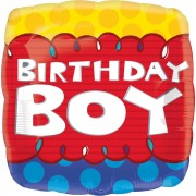 Balon folie Birthday Boy 45 cm
