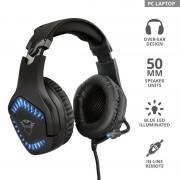 HEADPHONES, TRUST GXT 460 Varzz, microphone, Black (23380)
