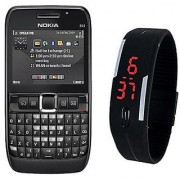 Combo Refurb Nokia E63 + LED Watch Good Condition 1 Year WarrantyBazaar Warranty