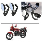 AutoStark 7/8 22cm Motorcycle Rear View Mirrors Handlebar Bar End Mirrors - Honda Dream Yuga