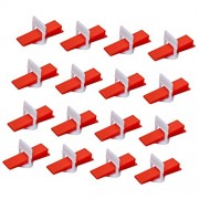 ELECTROPRIME 100Set Clip Red Wedge Tile Leveling Spacer System Tool Spacer Flooring Level