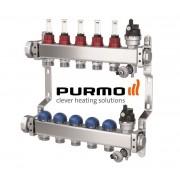 PURMO Distribuitor colector cu debitmetre si ventile M30 5 circuite