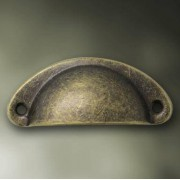 30pcs Medicine DRAWER PULL Cabinet Handle Drawer Handle Shells Handle Iron Round Handle Restoring Ancient Ways Antique Bronze