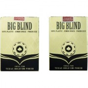 Parksons Big Blind 100 Plastic Jumbo Index Poker Size Playing Cards-(Multicolour) - Pack of 2