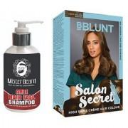 MISTER BEARD ANTI HAIR FALL SHAMPOO WITH BBLUNT LIGHT BROWN (5.32) HAIR COLOUR