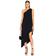 Norma Kamali for FWRD One Shoulder Diagonal Dress in Blue. - size S (also in L,M,XS)