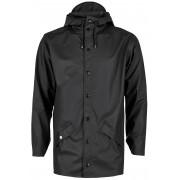 Rains Jacket regenjas unisex Kleur: zwart, Maat: M-L zwart