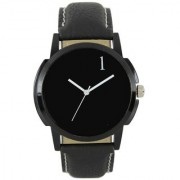 L- EM Round Dial Black 159 Quartz Watch For Men