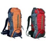 Gleam 2209 Climate Proof Mountain Campaign/Hiking/Trekking Bag/Backpack 75 ltrs ( Orange & Red ) PACK of 2 with RAIN COVER Rucksack - 75 L(Multicolor)