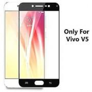 Full Coverage Edge to Edge Tempered Glass Screen Protector For Vivo V5 Black