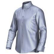 Maatoverhemd wit/blauw 54003