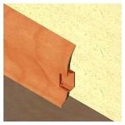 PBC605 - Plinta LINECO din PVC culoare cires pentru parchet - 60 mm