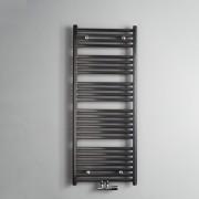 Designradiator Instamat Calda 126.4x45cm 573 Watt Aluminium Glans Wit Midden Onderaansluiting