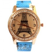 VITREND(R-TM) New Model Trendy Fancy Eiffel Tower Printed Dial Analog Watch for Women and Girls(Random Colours)