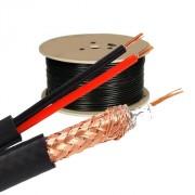 Koaxiální kabel 75-3.7, CU 0.81mm + 2xCU 0.9mm