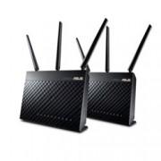 Рутер Asus AiMesh AC1900, 3G/4G, 1900Mbps, 2.4GHz(600 Mbps) / 5GHz(1300 Mbps), Wireless AC, 4x LAN1000, 1x WAN1000, 1x USB 3.0, 1x USB 2.0, 3x външни антени
