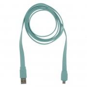 Câble d'alimentation plat pour micro-USB Q-link 1,5 m bleu