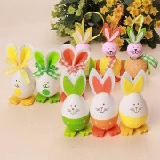 3Pcs DIY Easter Rabbit Shape Eggs Toys Dolls Hanging Bunny Decoration Home Decor Ornaments
