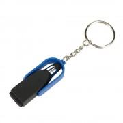 Breloc stylus cu laveta de curatat, Everestus, KR0693, plastic, otel, negru, albastru