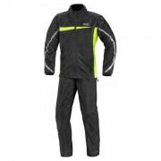 IXS Rain Suit Calais (Tweedelig) - Zwart-Fluor - Zwart-Fluor - Size: Small