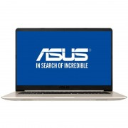 Laptop Asus VivoBook S15 S510UA-BQ462 15.6 inch FHD Intel Core i7-8550U 8GB DDR4 256GB SSD Endless OS Gold Metal